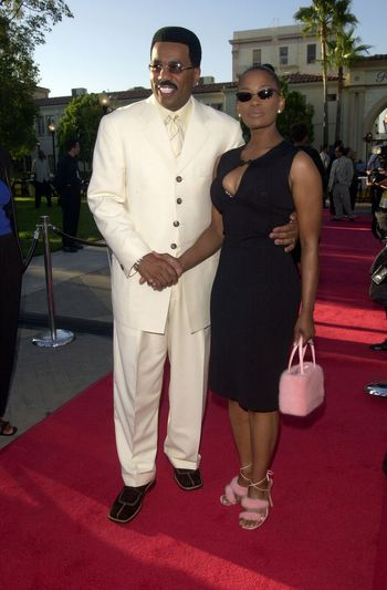 """Steve Harvey and Mary at the premiere of """"Original Kings of Comedy"""" in Hollywood. 08-10-00"""