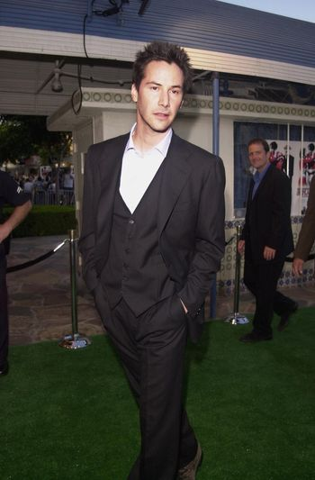Keanu Reeves at the premiere of The Replacements in Westwood. 08-07-00