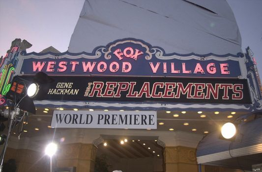 Theater in Westwood at the premiere of The Replacements in Westwood. 08-07-00