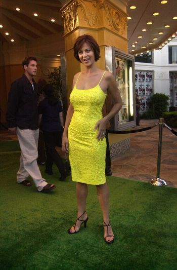 Catherine Bell at the premiere of The Replacements in Westwood. 08-07-00