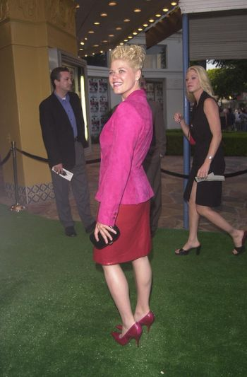 Sarah Ann Morris at the premiere of The Replacements in Westwood. 08-07-00