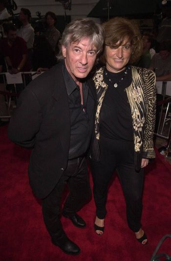 Paul Verhoeven and Wife Martina at the premiere of Hollow Man in Westwood. 08-02-00