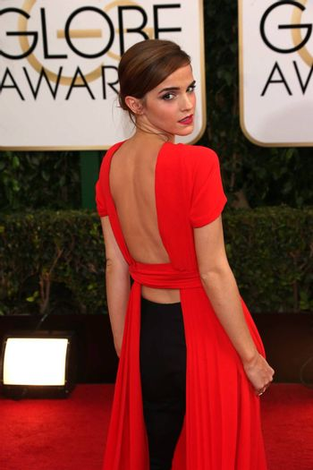 Emma Watson at the 71st Annual Golden Globe Awards Arrivals, Beverly Hilton Hotel, Beverly Hills, CA 01-12-14