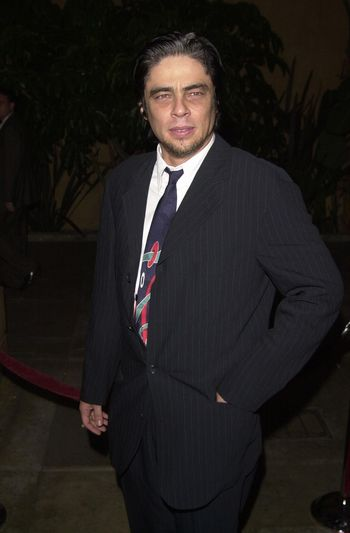 Benecio Del Torro at the premiere of The Way Of The Gun in Hollywood. 08-29-00
