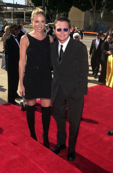 Michael J. Fox and Tracy Pollan at the Creative Arts Emmy Awards in Pasadena. 08-26-00