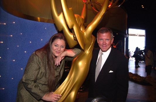 Camryn Manheim and Jim Chabin at the arrival of the Emmy Statues at Universal Studios. 08-22-00