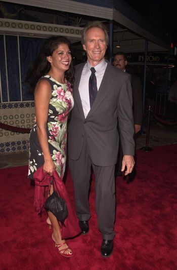 """Clint Eastwood and Dina Ruiz at the premiere of """"Space Cowboys"""" in Westwood. 08-01-00"""