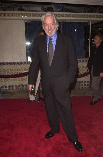 """Donald Sutherland at the premiere of """"Space Cowboys"""" in Westwood. 08-01-00"""