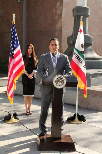 Kerri Kasem, Mike Gatto at the Kerri Kasem and Mike Gatto Press Conference to announce legislation to protect the rights of children to have access to ailing parents, Los Angeles Superior Court, Los Angeles, CA 02-20-14/ImageCollect