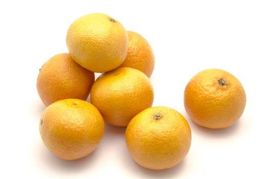 Mandarin closeup on white background