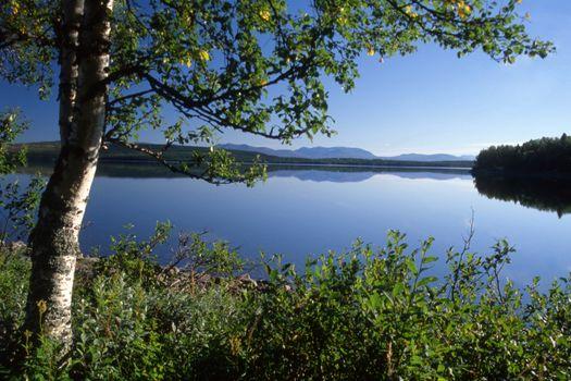 Beautiful lake  landscape in Sweden