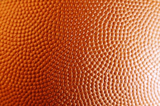 Closeup of orange basketball texture