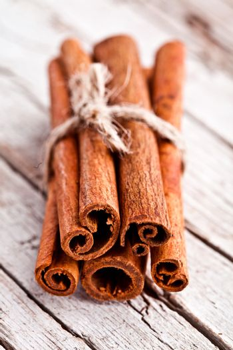 stack of cinnamon sticks