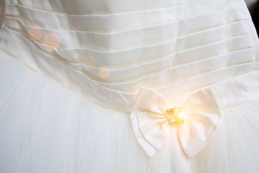 part of the wedding dress