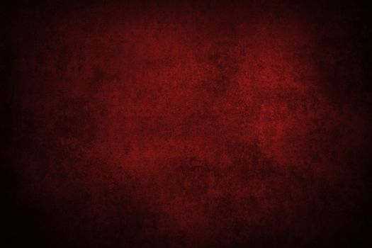 Red grunge textured wall. Copy space
