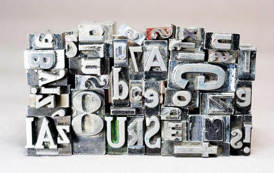 Metal Type Printing Press Typeset Obsolete Typography Text Letter