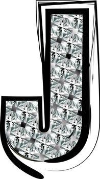 Diamond Font letter J