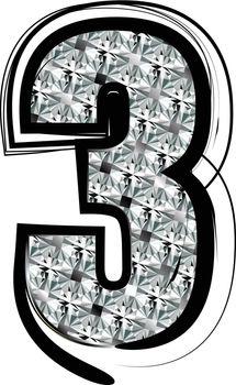 Diamond Font Number 3