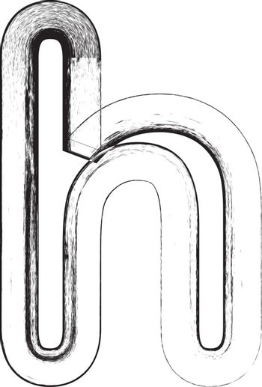 Grunge Font. Letter h