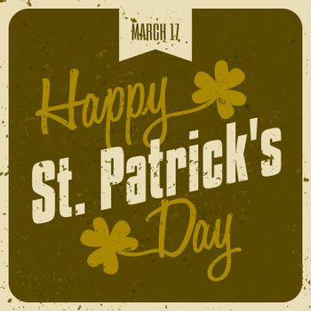 Typographic St. Patrick's Day Card