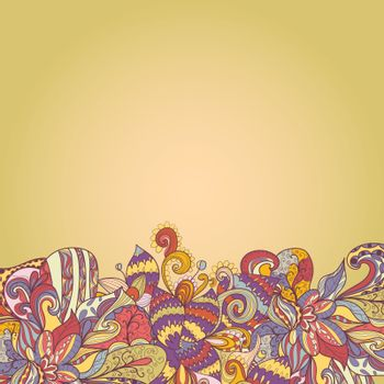 abstract background of petal and wave