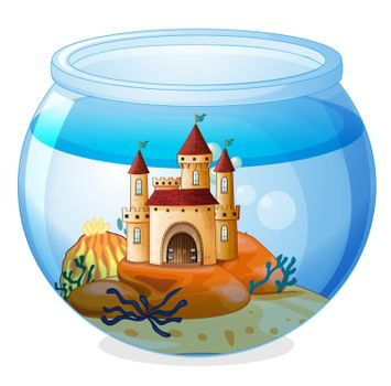 A castle inside a fishbowl
