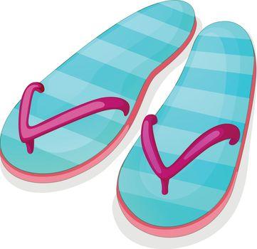 Blue stripe sandal