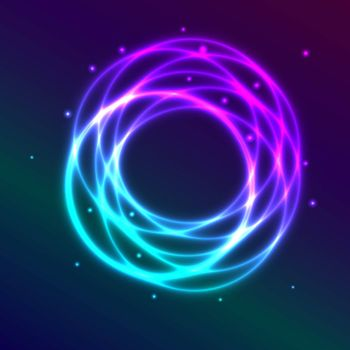 Abstract background with blue-purple shadingl plasma circle effect, vector illustration
