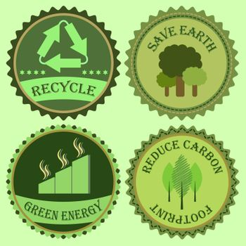 Set of go green collections