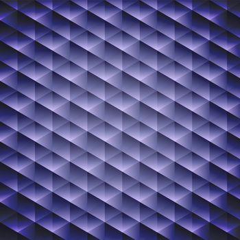 Dark blue geometric cubic background, vector illustration