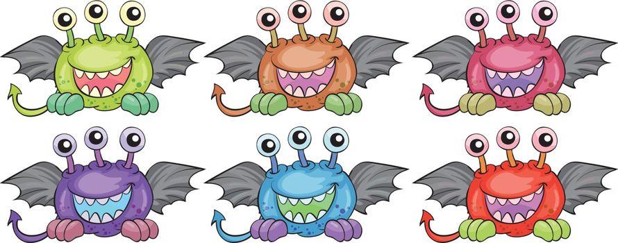 The six three-eyed aliens