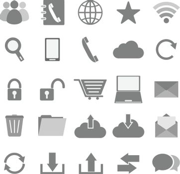 Communication icons on white background, stock vector