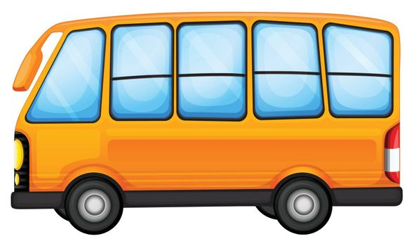 Illustration of a big bus on a white background