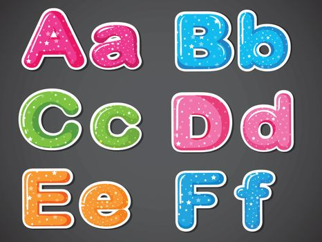 Letters of the alphabet in different colors