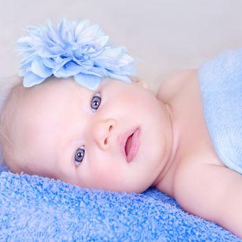 Closeup baby portrait