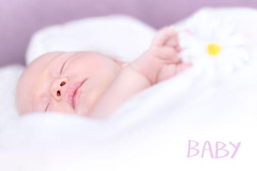 Newborn baby napping