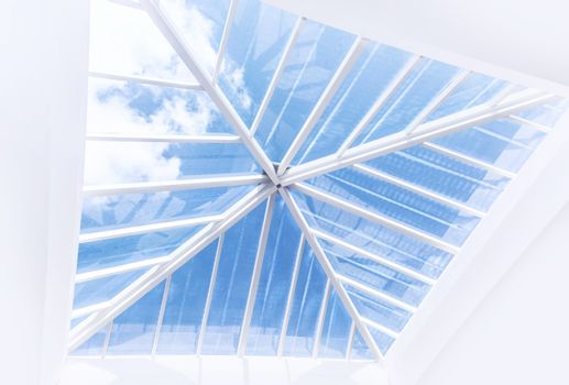 Large window on the ceiling