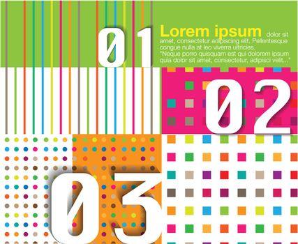 Scrapbook and infographics element