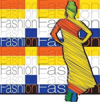 Fashion woman. Vector illustration