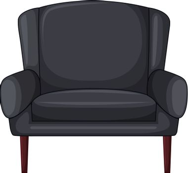 Illustration of an armchair on a white background