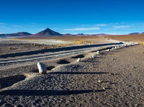 Gravel road on Altiplano