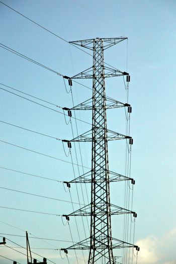 The Picture High voltage electrical transmission towers.