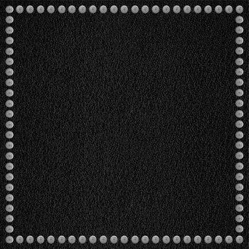 black leather background with rivet border