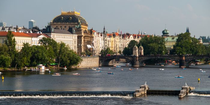 National Theatre and Vltava River