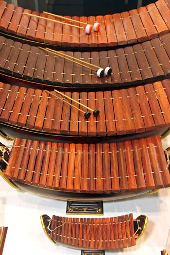 The Musical instrument of Thailand,The name is Xylophone.