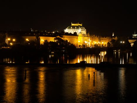 Vltava River and National Theatre