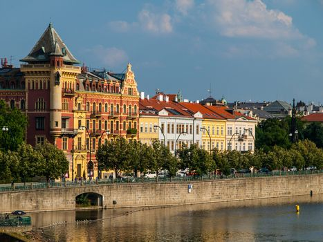 Smetana's Riverbank in Prague