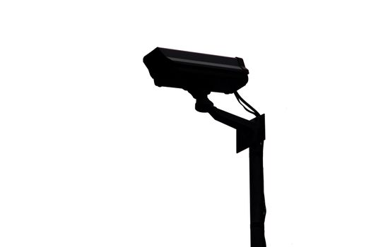 System of CCTV security camera in the Shadow.