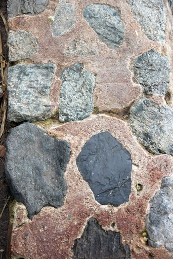 The Picture Stone wall of background in house.