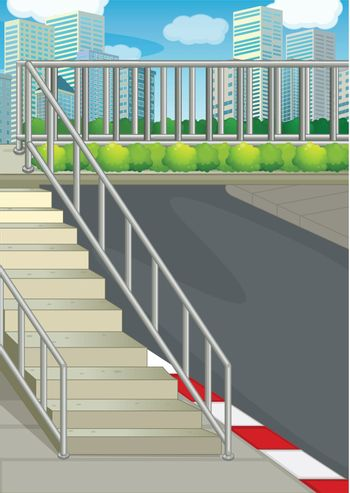 Illustration of a highway at the road